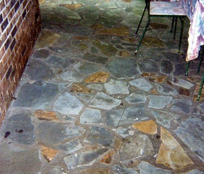 Stone patio is just like new after professional cleaning