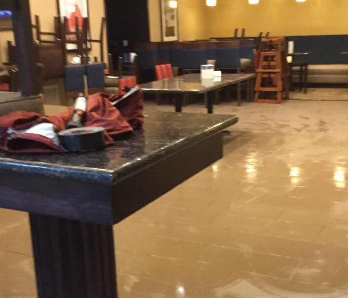 Water damage in Hotel Conference Room